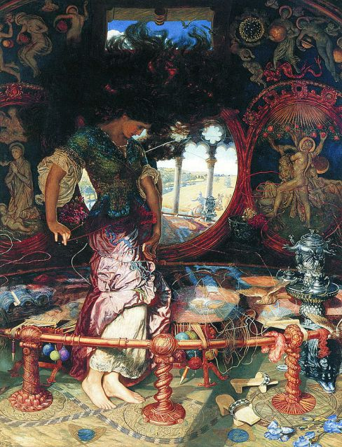 'The Lady of Shalott by William Holman Hunt (1886-1905)